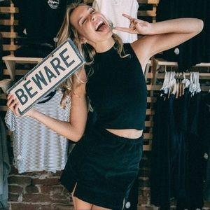 Brandy Melville Rare Black Corduroy Meena Skirt